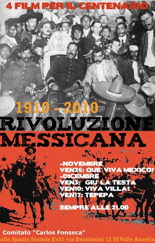Manifesto film sulla rivoluzione messicana